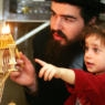father child menorah