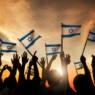 israeli flag hands