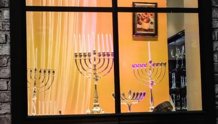 hanukkah candles menorah