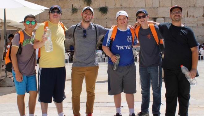 disabled israel trip at western wall