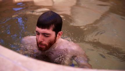 man in mikveh