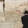 A man prays at the Wailing Wall in Jerusalem