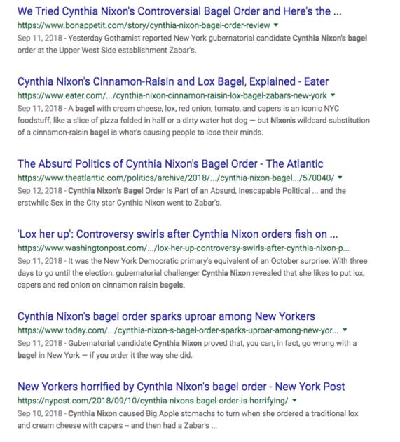 bagels cynthia nixon