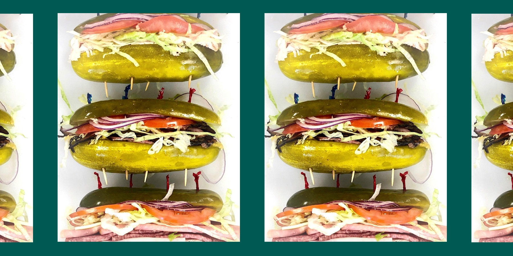 These Sandwiches Use Pickles Instead of Bread and We're in Love