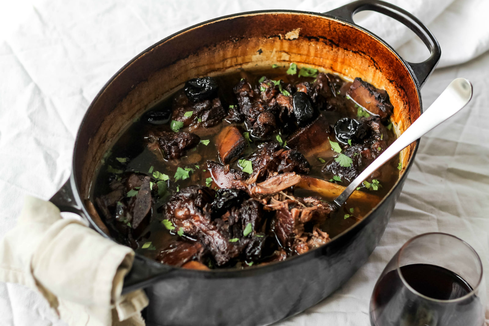 Red Wine Braised Short Ribs With Prunes Recipe My Jewish Learning