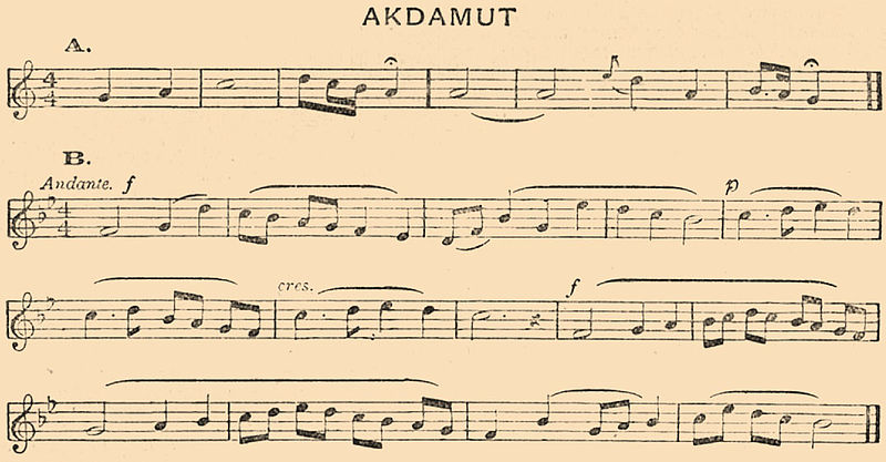 musical score for akdamut