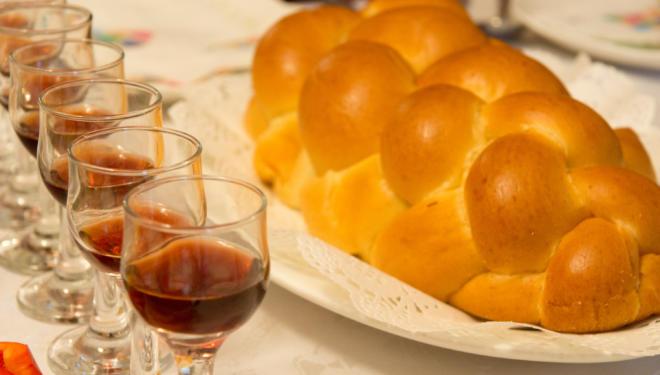 Shabbat table.
