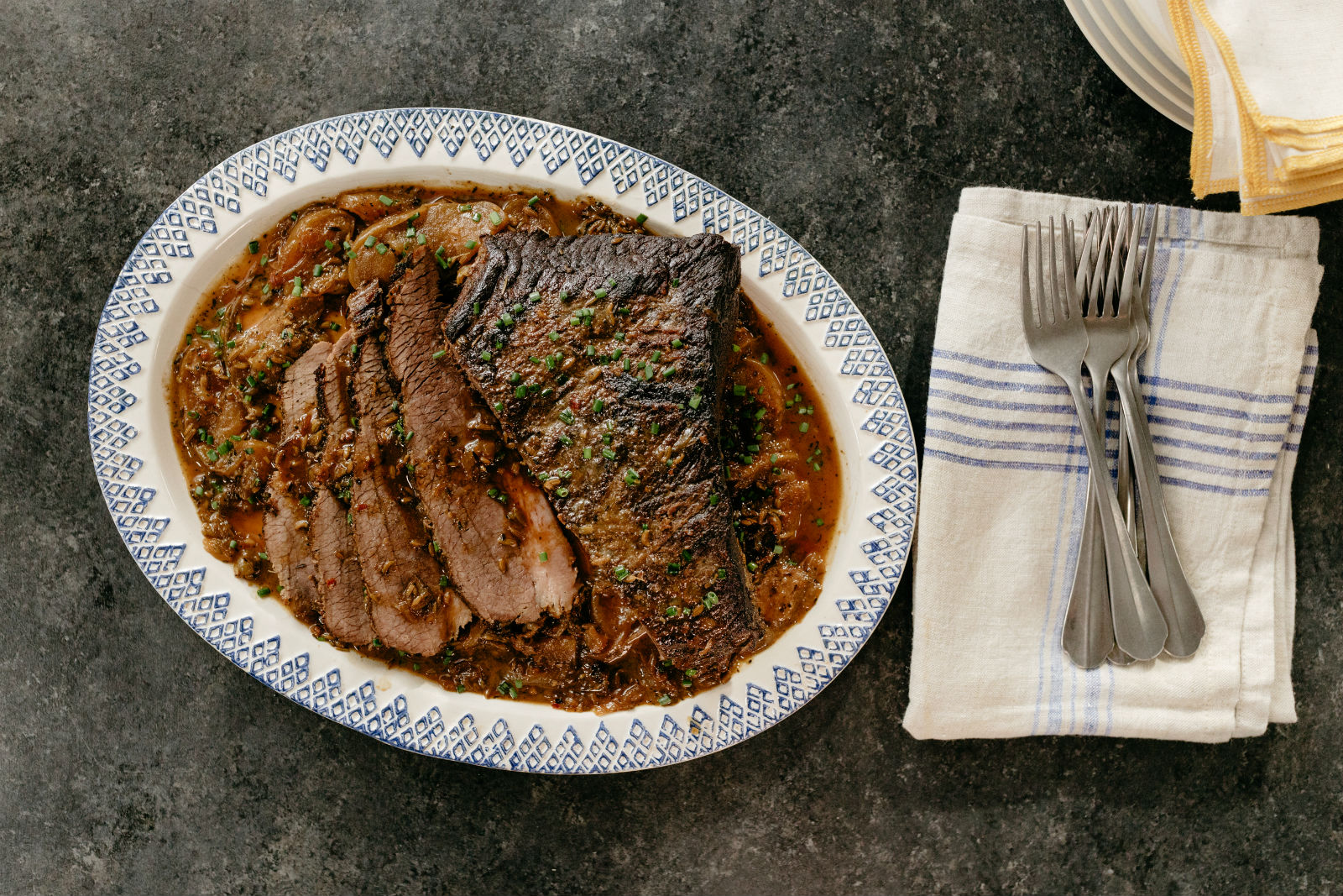 Molly Yeh's Apple Cider Brisket Recipe