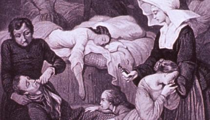 Cholera Epidemic Engraving